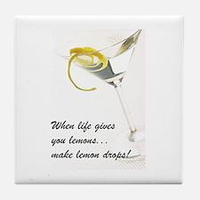 Lemon Drop Martini Tile Coaster