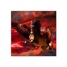 "Pegasus 2copy Square Sticker 3"" x 3"""