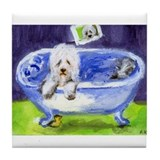 Old english sheepdog Drink Coasters