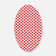 2125x2577flipflopheartstiled Oval Car Magnet