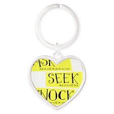 Matt. 0707, yellow Heart Keychain
