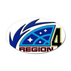 Region 4 35x21 Oval Wall Decal