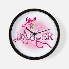 Reindeer Dancer by Danceshirts.com Wall Clock