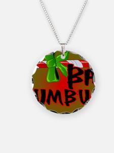Bah Humbug Broken Candy Cane Necklace