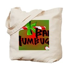 Bah Humbug Broken Candy Cane Tote Bag