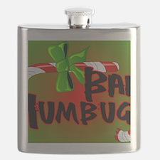 Bah Humbug Broken Candy Cane Flask
