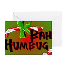 Bah Humbug Broken Candy Cane Greeting Card
