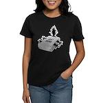 Cat Scan Women's Black T-Shirt