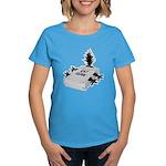 Cat Scan Women's Blue T-Shirt