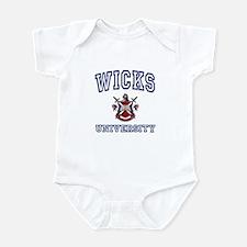 WICKS University Infant Bodysuit