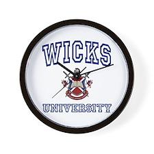 WICKS University Wall Clock