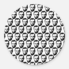2125x2577flipflopsabrahamlincoln5 Round Car Magnet