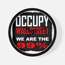 occupywllstrt we are the 99 Wall Clock