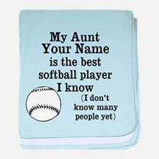 My Aunt Is The Best Softball Player I Know baby bl
