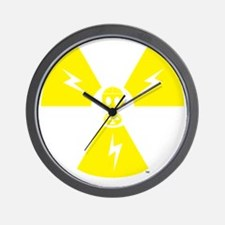 FS Radioactive Yellow Wall Clock