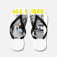 WallStreetBullBTB Flip Flops