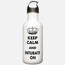 KEEP CALM AND INTUBATE Water Bottle