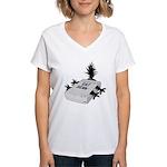 Cat Scan Women's V-Neck T-Shirt