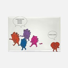 Heart Zombies Color Rectangle Magnet