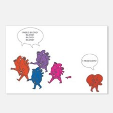 Heart Zombies Color Postcards (Package of 8)