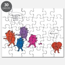 Heart Zombies Color Puzzle