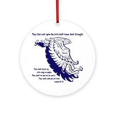 blue, Isaiah 4031 Round Ornament