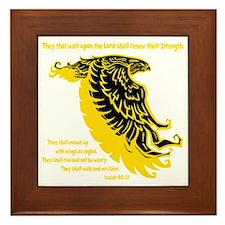 yellow, Isaiah 4031 Framed Tile