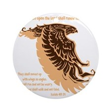 tan, Isaiah 4031 Round Ornament