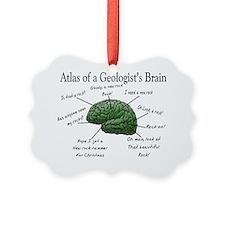Atlas of a Geologists Brain Ornament