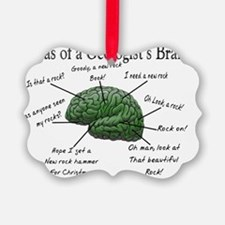 Atlas of a Geologists Brain Ornament