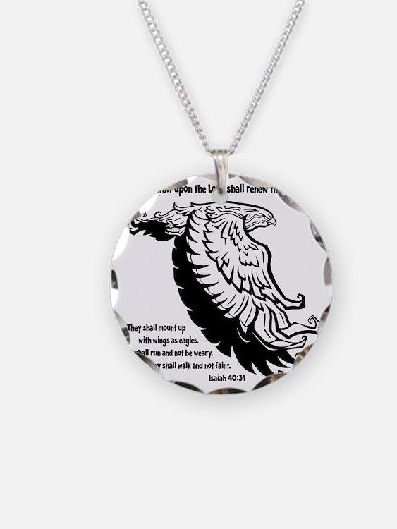 black, Isaiah 4031 Necklace Circle Charm