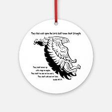 black, Isaiah 4031 Round Ornament