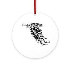 white, Isaiah 4031 Round Ornament