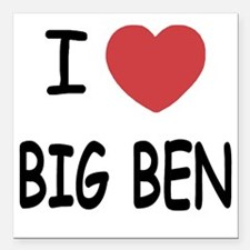 """BIG_BEN Square Car Magnet 3"""" x 3"""""""