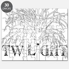 twilight snow trees for dark copy Puzzle