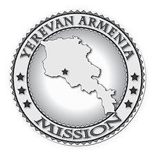 Yerevan Armenia LDS Mission Round Car Magnet