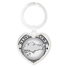Singapore LDS Mission Heart Keychain