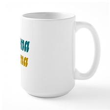 obama moma aqua and gold Mug