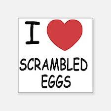 """SCRAMBLEDEGGS Square Sticker 3"""" x 3"""""""