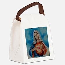 maria-heart Canvas Lunch Bag