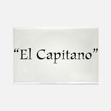 El Capitano Rectangle Magnet