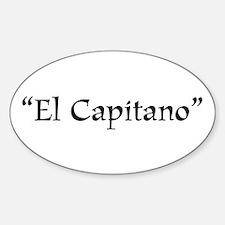 El Capitano Oval Decal