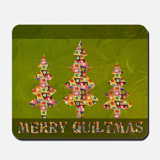 MERRYQUILTMAS Mousepad