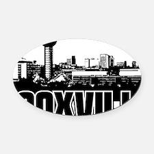 Knoxville Skyline Oval Car Magnet