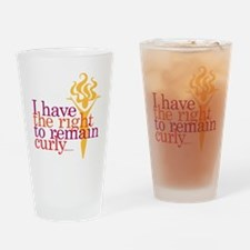 I Have The Right To Remain Curly Drinking Glass