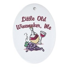 Little Old Winemaker Oval Ornament