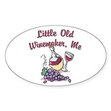 Little Old Winemaker Oval Decal