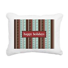 ReindeerStripes_Greeting Rectangular Canvas Pillow