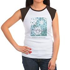 Cool Snow Greeting Card Women's Cap Sleeve T-Shirt