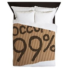 occupy_cardboard_99%_12 Queen Duvet